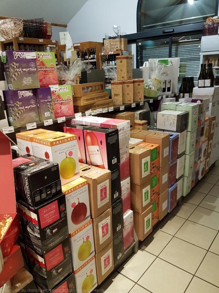 les cubits en 5L et 3L  vins rouge, rosé, blanc